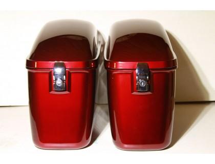 Кофры боковые красные пластиковые усиленные б/у
