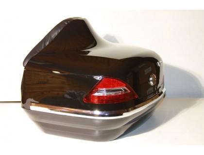 Кофр задний (пластик) под авто черный с габаритами и спинкой