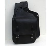 Кофры кожаные боковые для мотоцикла легкие бескаркасные (матовая поверхность)