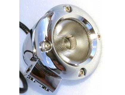 Светодиодный хромированный фонарь для мотоцикла.
