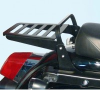 Черный багажник (23 см) для мотоцикла KAWASAKI VULCAN VN 1700 VOYAGER CUSTOM / VAQUERO