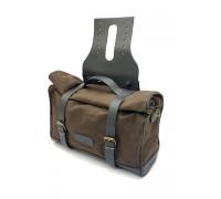Текстильный боковой кофр для мотоцикла SPAAN (арт. 1537) 420/320x400x150мм, коричневый,