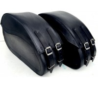 Кофры кожаные боковые средние каркасные для мотоцикла
