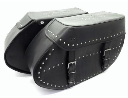 Кофры кожаные боковые для мотоцикла с клепками