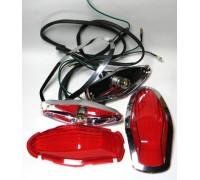 Комплект красных фонарей для пластиковых кофров модели LN для мотоцикла