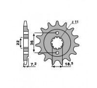Звезда ведущая 13 зубьев PBR 2067 13 (JTF1321-13)