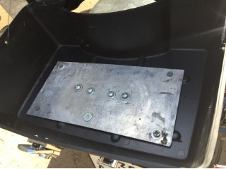 Установка заднего кофра DMY BLACK с усилением площадки