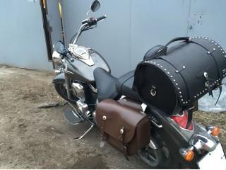 Боковые кожаные кофры SPAAN 0548 и задний батон 0856